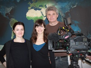 ORF team with Silvia Klettner