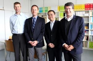 Prof. Pfeifer, Prof. Raubal, Dr. Huang, Prof. Gartner