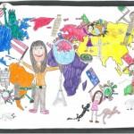 Lea (11) und Emelie (11): Wir sind überall – alles gibt es überall – im Internet, 1. Platz der Altersgruppe 9–12 Jahre