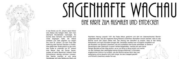 Sagenhafte Wachau - Eine Karte zum Ausmalen und Entdecken by Sophie Haselsteiner