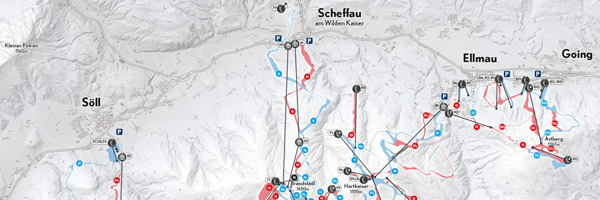 SkiWelt Wilder Kaiser Brixental - Orientation and Navigation Map by Jenny Janssen