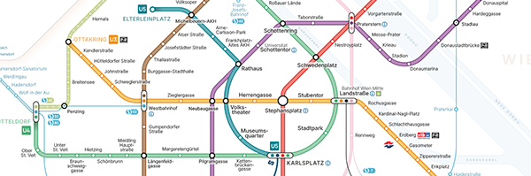 Transit Map of Vienna (Redesign of the official map)